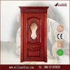 2014 hot sell interior solid wood door with glass insert