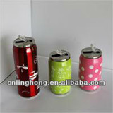 Double Wall Thermos Can with Pump,Cola Vacuum Flask 280ml