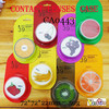 contact lens case fruit party round lenses travel box CA0443