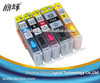 Refillable ink cartridge for Canon MX723 printer BCI-350 BCI-351 filling cartridges with reset chip