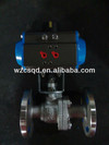 Pneumatic Actuator Flanged Ball Valve DN25