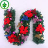 Sell like hot cakes 9Feet (270cm) wholesale pvc wholesale artificial christmas plastic ball rattan wreaths