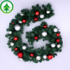 Sell like hot cakes 9Feet (270cm) wholesale handmade pvc christmas garland Ball of light christmas festival decoration ribbon
