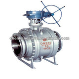3PC Worm Gear Fixed Ball Valve Trunnion Mounted By China Supplier