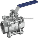 High Quality Stainless Steel 3 Pieces Ball Valve