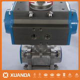 Pneumatic actuator npt screw ball valve Manufacturer