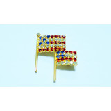Unique Design American Flag shape brooch pin with Rhinestone for women part activity