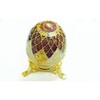 fashion metal alloy egg shaped jewellery box decoration with magent closure , oil dripping surface effects with rhinestone for hold jewellery