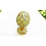 Alloy handmade egg shaped jewellery box