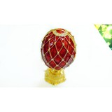 Lovely alloy egg shaped jewellery box for decoration