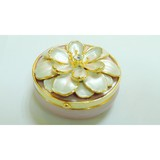 Mini round alloy jewellery box