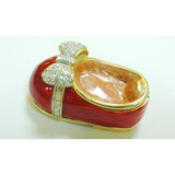 Colorful shoe shape alloy magnetic jewellery box