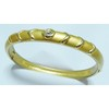 Gold plated rhinestone brass bangle for woman