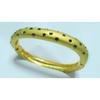 Gold plated brass cuff bangle rhinestone brass bangle