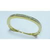 Attractive gold plated brass bangle with rhinestone