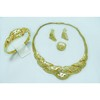 Brass material gold fashion jewellery necklace set