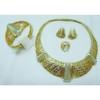 New style gold jewellery set stylish fake gold jewellery set fashion brass jewellery set