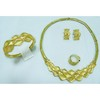 Costume jewellery set , made from brass with gold plating