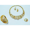 Brass material new style necklace,earring,bangle ,ring jewellery set