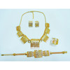 Fashion jewellery set, brass material
