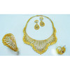 Leading fashion brass material jewellery set