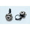 Alloy material earring with swarovski crystal