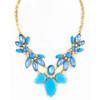 Wholesale fashion acrylic necklace water drop rhinestone neckalce jewellery