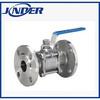 DIN standard 3PC flanged ball valve