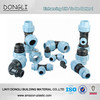 DN20-DN110 PP compression fittings high pressure for HDPE pipe fitting