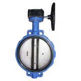 Worm Gear Wafer Soft Seal Butterfly Valves