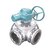 Cast Stainless Steel Electric Four Way Ball Valves China