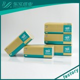 China Paper Factory Eco-friendly Soft 100% virgin bamboo pulp unbleached facial tissue