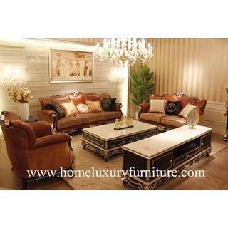Leather Brown Sofa Modern Sofa Living Room Furniture Living ...