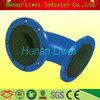 Cost-effective rubber coated steel pipe elbow
