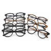 handcrafted metal nose bridge spectacle frame imitation wood grain acetate optical frame TA1288 / 7 color / part 1