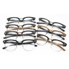 modern design eyebrow optical frame metal mix acetate imitation wood grain spectacle frame RB5156 / 7 color / part 1