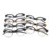 new style eyebrow optical frame metal mix acetate faux wood grain eyeglass frame TA12307 / 7 color / part 1