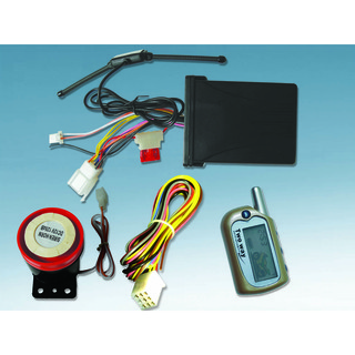 Two Way Motorcycle Alarm System with One LCD Remote