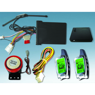 Two Way Motorcycle Alarm System with Two LCD Transmitters
