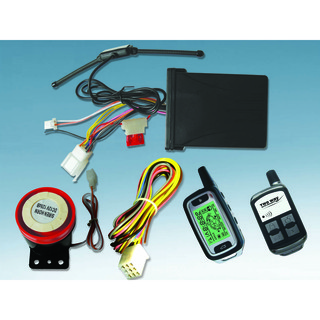 Two Way Motorcycle Alarm System with One LCD Remote and One Long Distance Remote