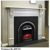 White Marble Shelf Fireplace Mantels