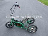 Three wheel stand up electric scooter