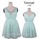 V-neck sexy crystal beaded cocktail dress/knee length A-shape dresses for women