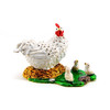 China manufacture animal jewelry boxes, cute cock metal alloy trinket jewelry box Z-4049