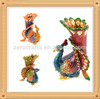 New style Large Male Peacock metal trinket box Peacock treasure box metal jewelry box Z-4600