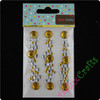 Gold and Clear Colourful Gem stickers