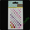 Star / Heart / Water-drop Colourful Gem stickers