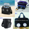 promotional 6 can picnic insulated cooler bag with speaker