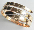 Rose Gold Plated Stainless Steel Snake Bangle