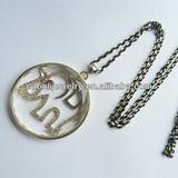 Elephant Crystal Glass Alloy Pendant Necklace
